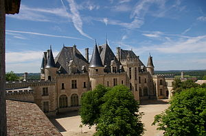 The fourteenth-century château, in which Miche...