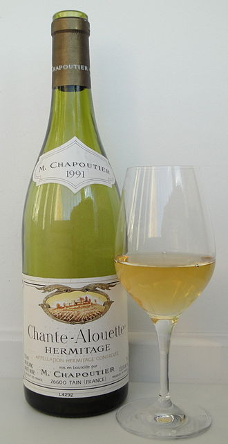 Hermitage AOC - Production of red wines dominate, but white wines are also produced. In this case a white Hermitage from Chapoutier from 100% Marsanne.