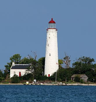 John Brown (builder) - Chantry Island lighthouse, one of six nearly identical Imperial Towers built by Brown