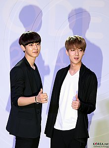 Chanyeol and Sehun at the Fashion Kode 2014 (1).jpg
