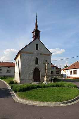 Chapel of Saint John of Nepomuk in Pálovice, Třebíč District.JPG