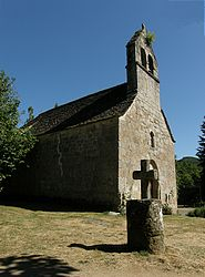 The Romanesque chapel of Saint-Jacques, in the hamlet of Vendes, in Bassignac
