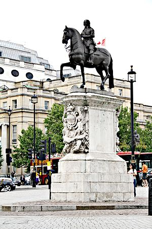 Equestrian statue of Charles I, Charing Cross - The statue in 2009