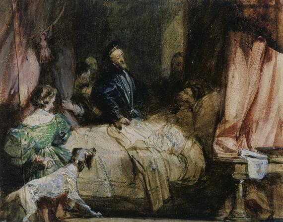 Charles V visits François Ier after the Battle of Pavia