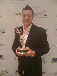 Charlie Moore with Emmy Award.JPG