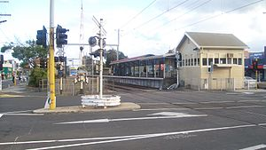 Chelsea railway station, Melbourne - Southbound view in March 2010