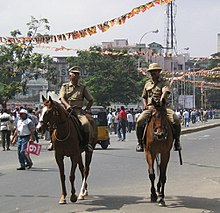 Two mounted-police officers