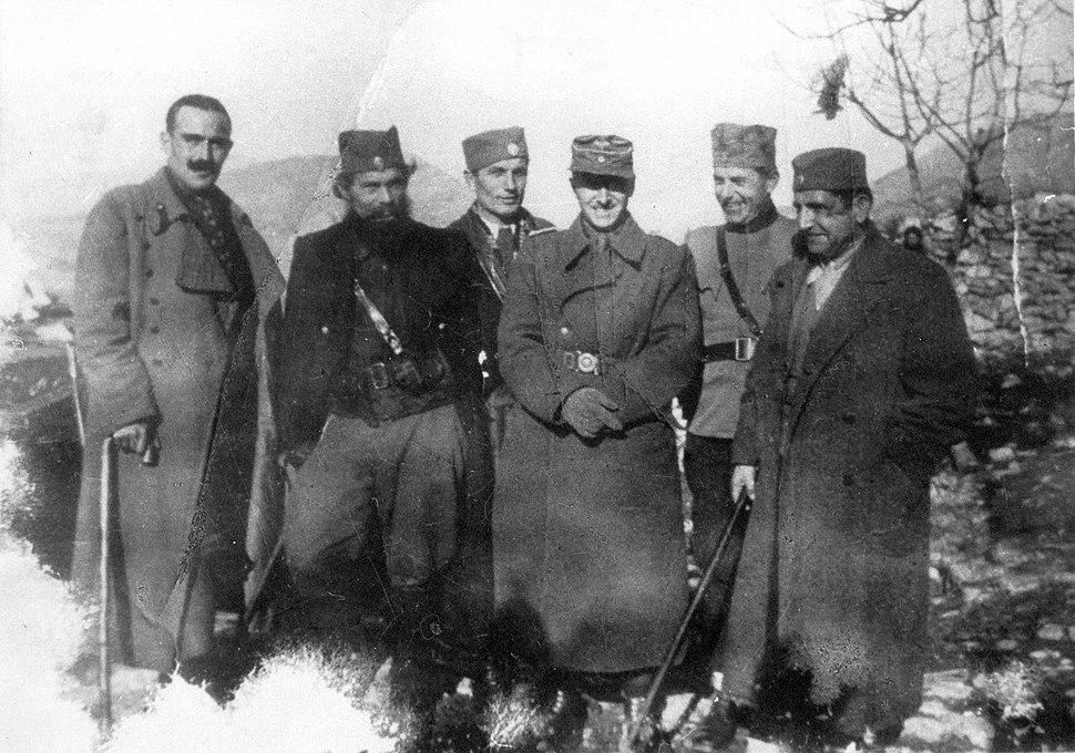 Chetniks and Germans in Podgorica 1944