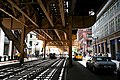 """Chicago (ILL) Downtown, S Wells St. """" under the Loop, Traffic """" (4824232434).jpg"""