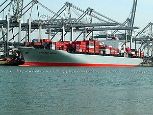 Chicago Bridge IMO 9247558 , at the Amazone harbour, Port of Rotterdam, Holland 04-May-2006.jpg