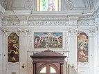 Chiesa di San Gaetano Madonna controfacciata tre dipinti Brescia.jpg