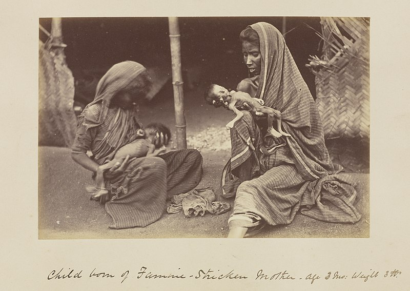 File:Child Born of Famine-Stricken Mother by WW Hooper, 1877.jpg