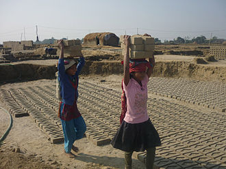 Slavery - Thousands of children work as bonded labourers in Asia, particularly in the Indian subcontinent.