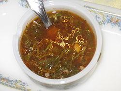A bowl of chimichurri.