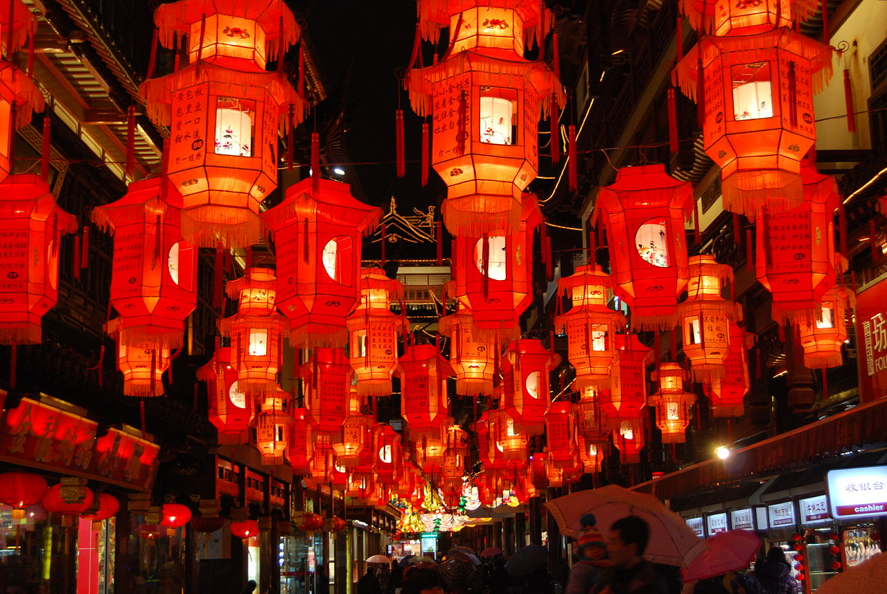 Shanghai, Y Garden, Lantern Festival, China, Chinese new year's eve, beast, Nian, monster, thriller, mustread, storytelling, goodread, red, lanterns, festival, travel, reading, what to read, new read, fantasy,