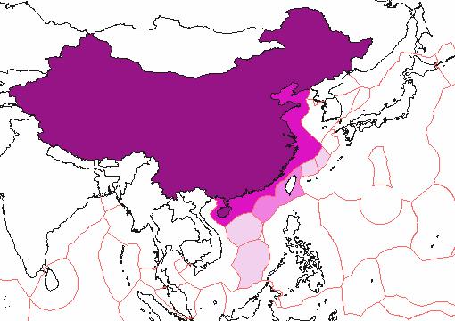 China Exclusive Economic Zones