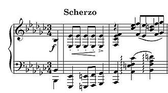Piano Sonata No. 2 (Chopin) - Opening of the Scherzo