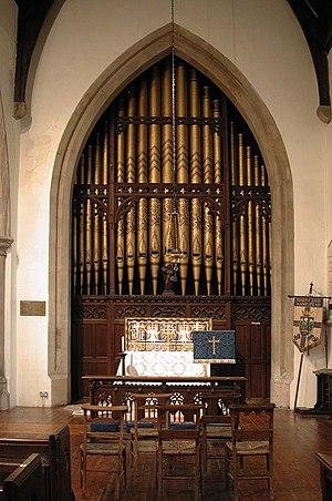 Christ Church, Hampstead - The organ pipes
