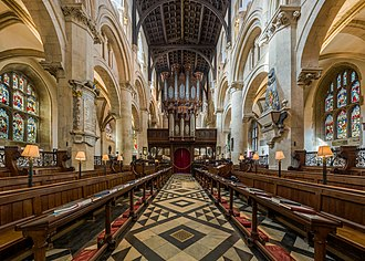 Christ Church Cathedral, Oxford - The choir, looking towards the organ and entrance