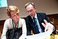 Christina Gestrin, ordforande i BSPC och sekretariats chef Jan Widberg. BSPC 20 Helsingfor.jpg