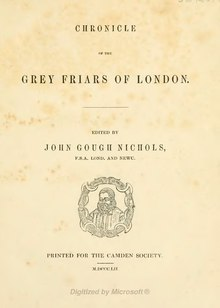 Chronicle of the Grey friars of London.djvu