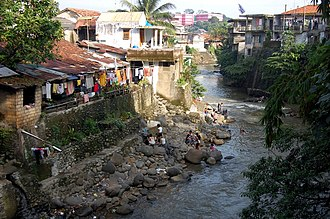 Bogor - Ciliwung River on the outskirts of Bogor