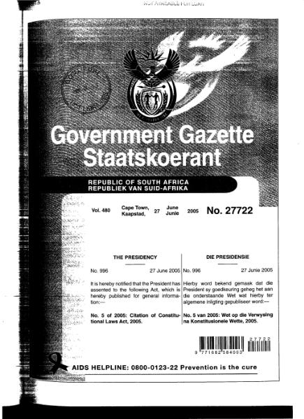 File:Citation of Constitutional Laws Act 2005 from Government Gazette.djvu