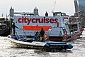 City Cruises 'Millennium of London' and rigid-hulled inflatable, River Thames 01.jpg