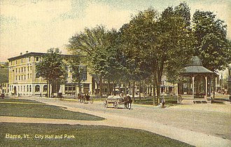Barre (city), Vermont - City Hall and park in c. 1910