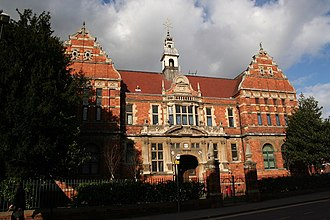 Lincoln College, Lincolnshire - The buildings of the City School, a former grammar school on Monks Road, now the Gibney Building part of the college built in 1885 as the School of Science and Art