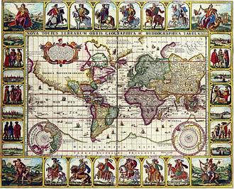 Claes Jansz. Visscher - Image: Claes Janszoon Visscher Nova Totius Terrarum Orbis Geographica Ac Hydrographica Tabula Autore'