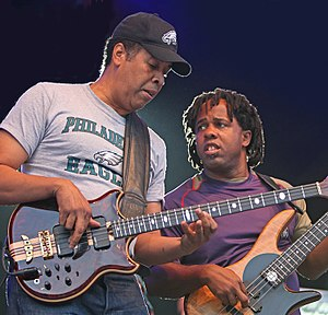 Stanley Clarke - Stanley Clarke and Victor Wooten in the SMV Thunder Tour, Stockholm Jazz Festival, 2009