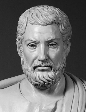 "Cleisthenes - Modern bust of Cleisthenes, known as ""the father of Athenian democracy"", on view at the Ohio Statehouse, Columbus, Ohio"