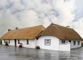 Clogh village, Co.Kilkenny and its thatched houses.jpg