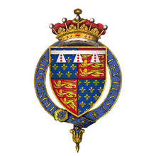 Coat of Arms of Edward of Langley, Earl of Rutland, KG.png