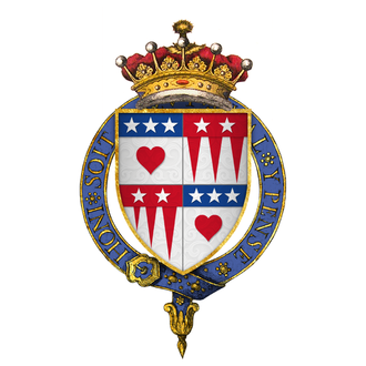 William Douglas, 7th Earl of Morton - Arms of Sir William Douglas, 7th Earl of Morton, KG