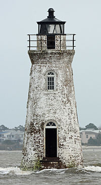 Cockspur Island Lighthouse, Chatham county, GA, US.jpg