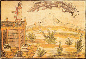 Aztec codices - Diego Durán, A comet seen by Moctezuma, interpreted as a sign of impeding peril.