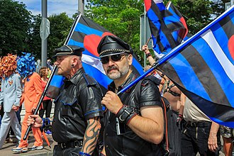 Leather subculture - Leathermen at Cologne Pride, Germany 2014