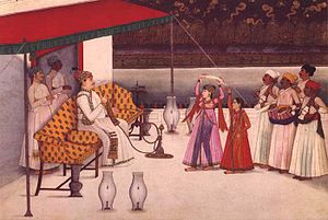 Antoine Polier - Col. Polier's Nautch (Lucknow, c.1780), painted by Mihr Chand