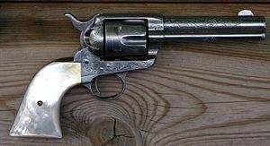 Colt Single Action, Werksgravur 1893 von Cuno Helfricht