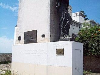 Juan Bautista Azopardo - Monument to Azopardo (detail) in San Nicolás de los Arroyos