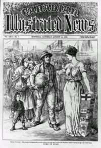 "Come to Stay, printed in 1880 in the Canadian Illustrated News, refers to immigration to the ""Dominion"". Today, there is a debate about immigrants who do ..."