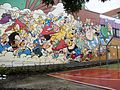 Comic wall Asterix & Obelix, Goscinny and Uderzo. Bruxelles.jpg