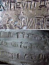 Comparison of Rollout of Set of Silversmithing Tools with Sir Francis Drake's, Plate of Brass discovered in 1936.png