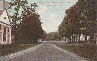 Chesterfield, New Hampshire - Image: Congregational Church and Main Street, Chesterfield, NH