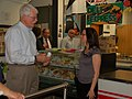 Congressman George Miller visit Mt. Diablo High School's Change the Food, Change Everything Program on February 23, 2012. (6926973909).jpg