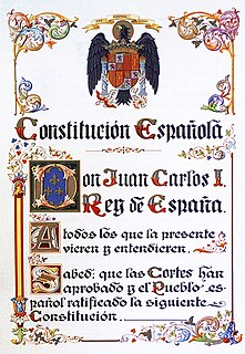 Current constitution of Spain