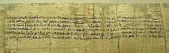 Demotic (Egyptian) - Image: Contract IMG 6282