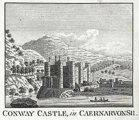 Conway Castle, in Caernarvonsh